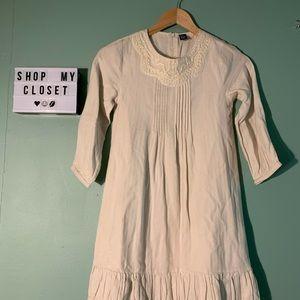 Zara Kids Off-White Casual Dress Size 11-12